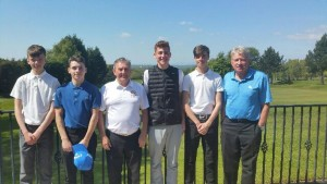 Marple Juniors with Captain Pat Dunion and organiser Neville Beischer